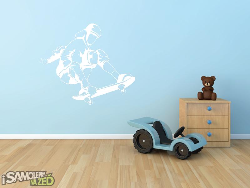Dětské samolepky na zeď - Samolepka na zeď - Skater