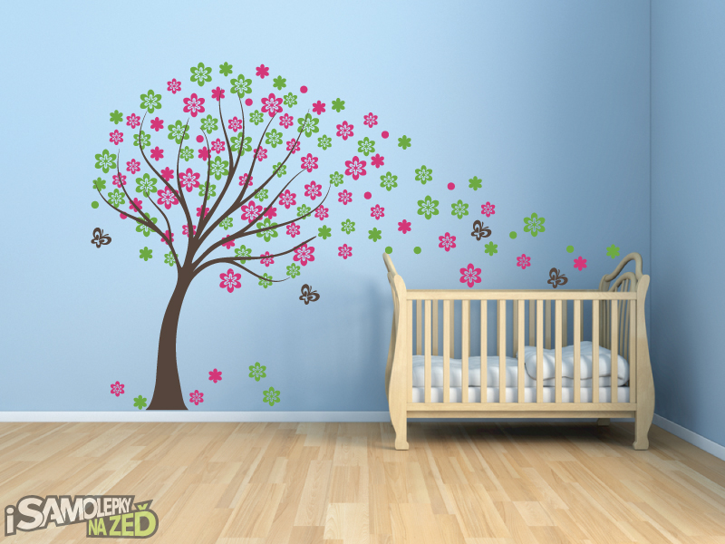 Dětské samolepky na zeď - Samolepka na zeď - Jarní strom
