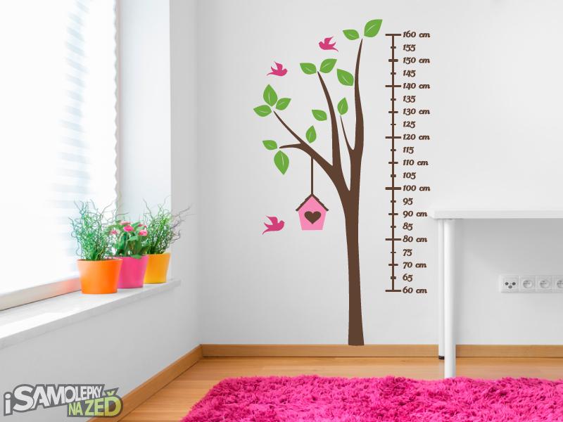 Dětské samolepky na zeď - Dětský metr strom
