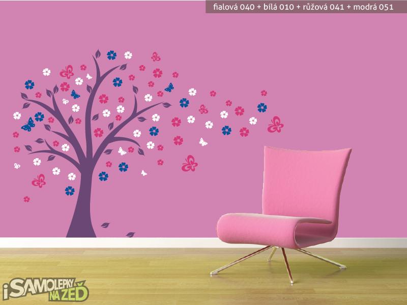 Dětské samolepky na zeď - Pohádkový strom