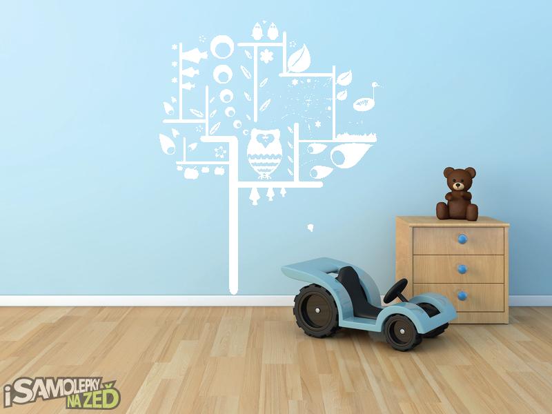Dětské samolepky na zeď - Samolepka na zeď - Dětský strom