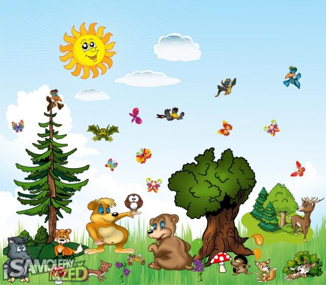 Dětské samolepky na zeď - Samolepka na zeď - Sada čarovný les