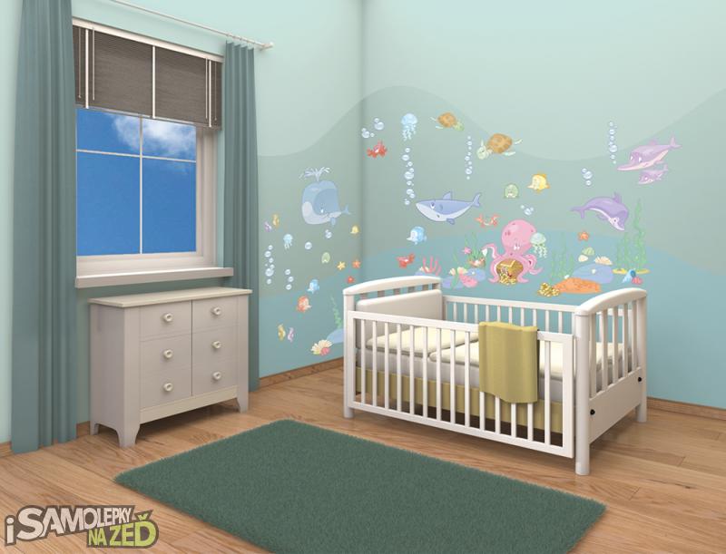 Dětské samolepky na zeď - Dekorace baby moře