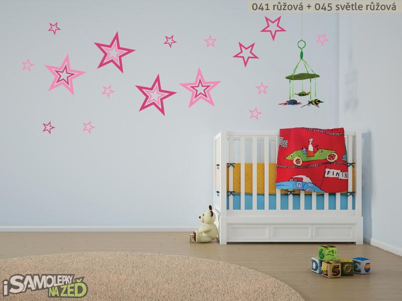 Dětské samolepky na zeď - Hvězdy
