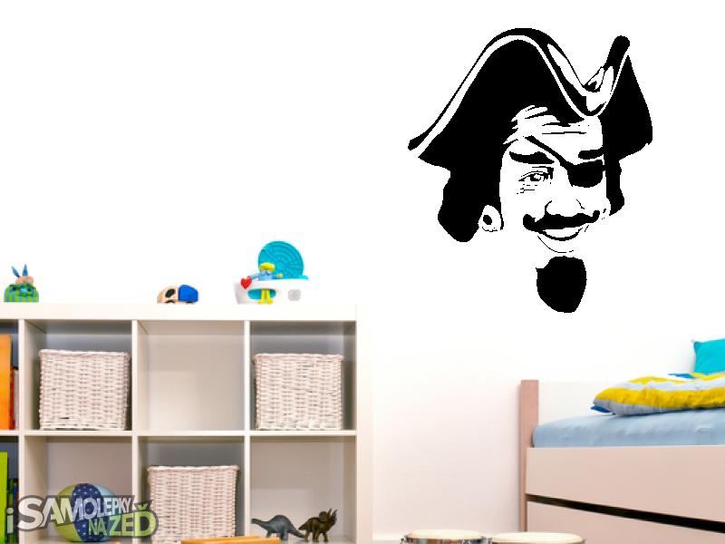 Dětské samolepky na zeď - Pirát