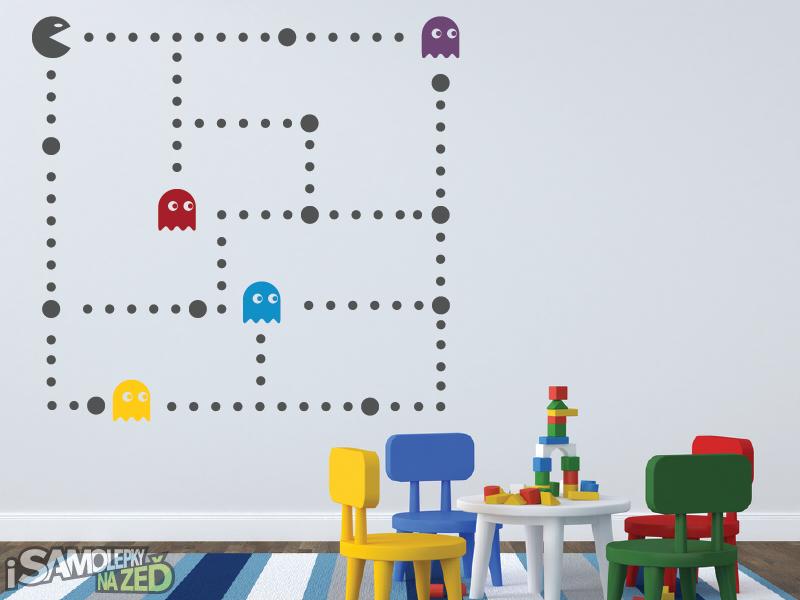 Dětské samolepky na zeď - Samolepka na zeď - Pacman