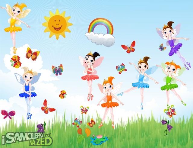 Dětské samolepky na zeď - Kouzelné víly