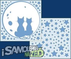 Samolepky na zeď - Svítící kočky