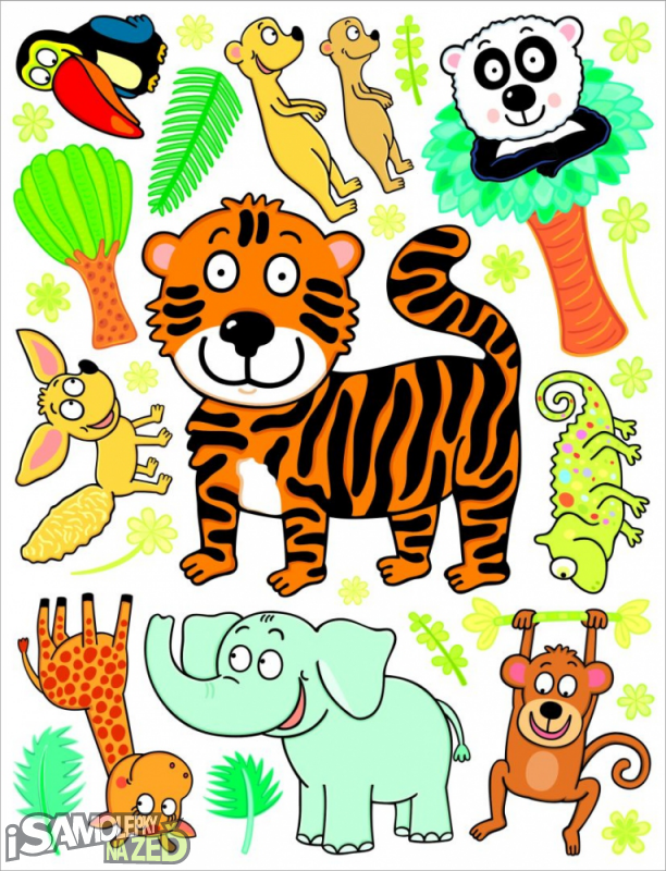 Dětské samolepky na zeď - Tygřík a jeho kamarádi