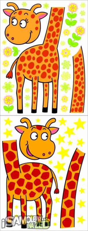 Dětské samolepky na zeď - Velké žirafy