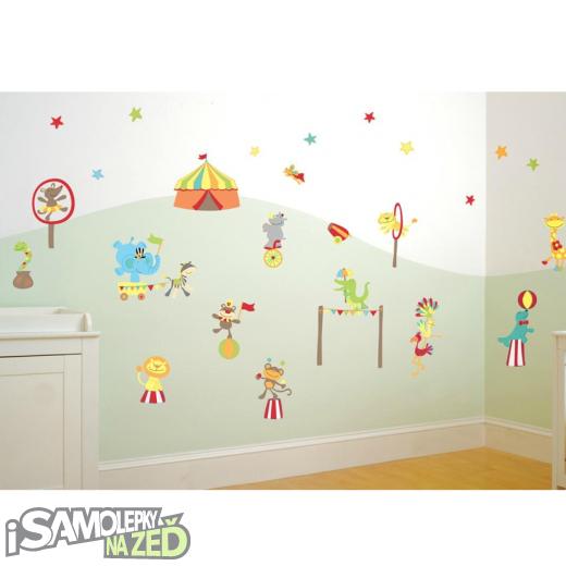 Dětské samolepky na zeď - Cirkus