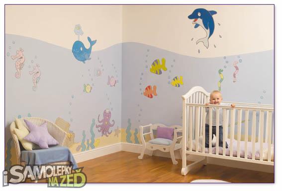 Dětské samolepky na zeď - Dětský pokoj ve stylu Mořský svět