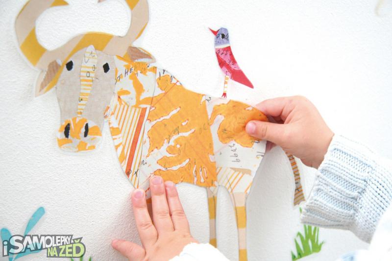 Dětské samolepky na zeď - Safari