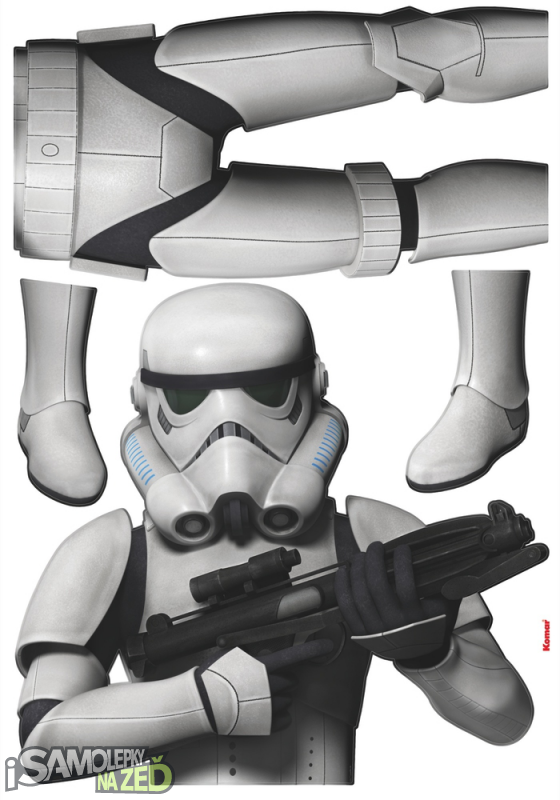 Dětské samolepky na zeď - Star Wars Stormtrooper
