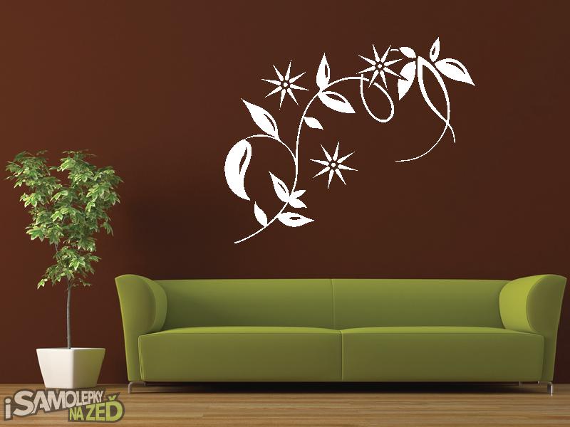 Samolepky na zeď - Samolepka na zeď - Dekorační květina