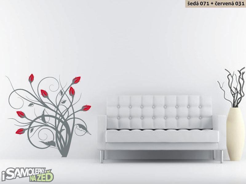 Samolepky na zeď - Samolepka na zeď - Keřík růží