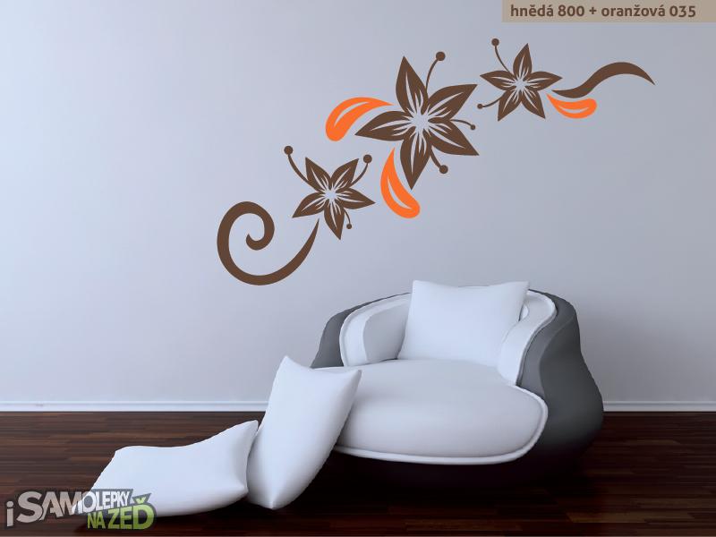 Samolepky na zeď - Květinová dekorace 3