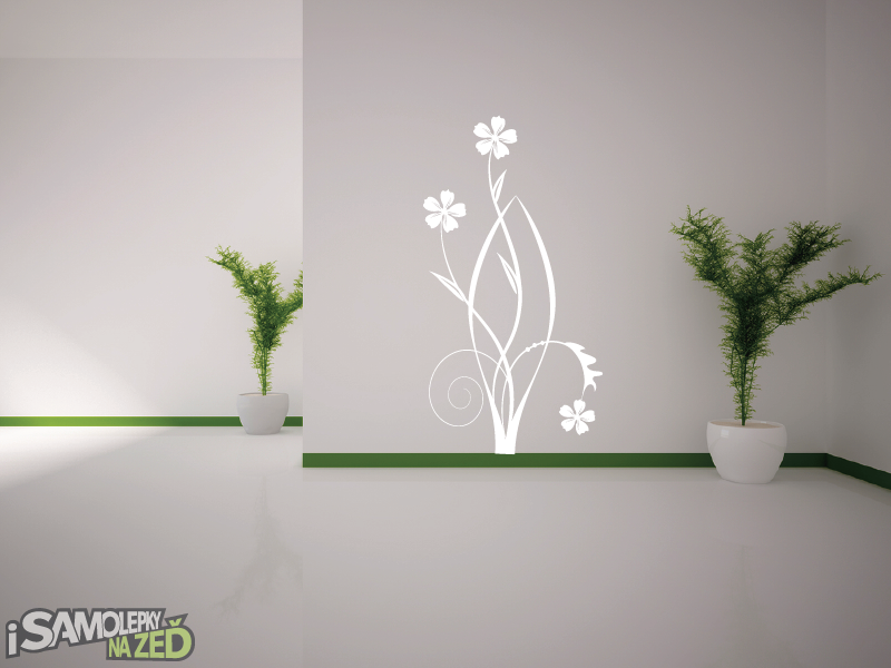 Samolepky na zeď - Samolepka na zeď - Květinový motiv 3