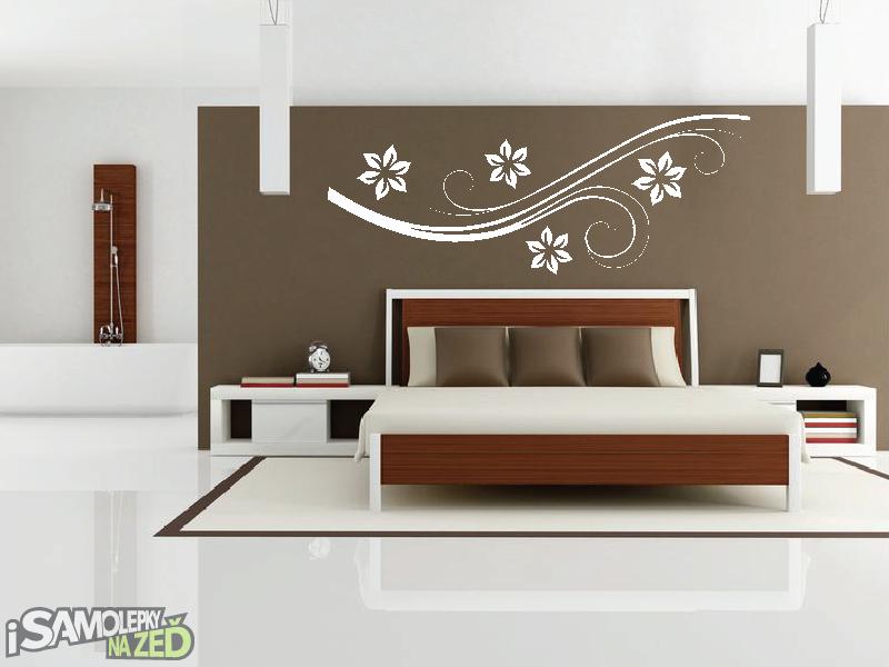 Samolepky na zeď - Samolepka na zeď - Vysoký květinový motiv 4