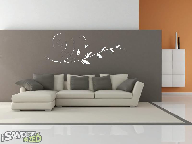 Samolepky na zeď - Samolepka na zeď - Vysoký květinový motiv 5