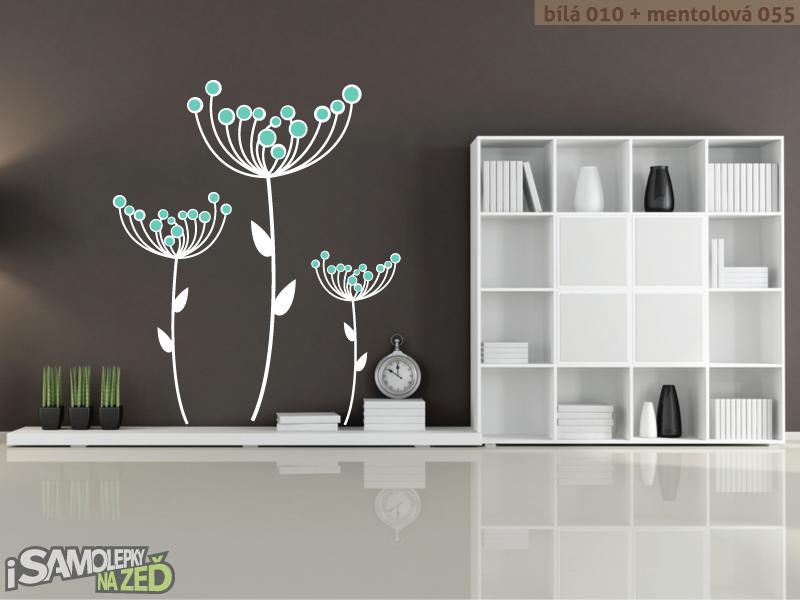 Samolepky na zeď - Samolepka na zeď - Suché květy v2