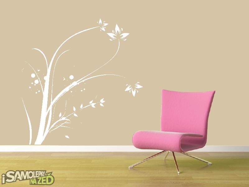 Samolepky na zeď - Samolepka na zeď - Vysoký květinový motiv 2