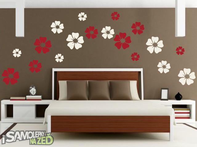 Samolepky na zeď - Samolepka na zeď - Květy dvoubarevné 2