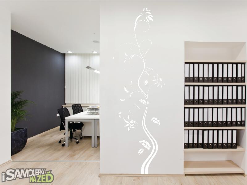 Samolepky na zeď - Samolepka na zeď - Vysoký květinový motiv 3