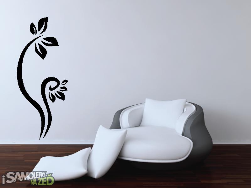 Samolepky na zeď - Samolepka na zeď - Vysoký květinový motiv 6
