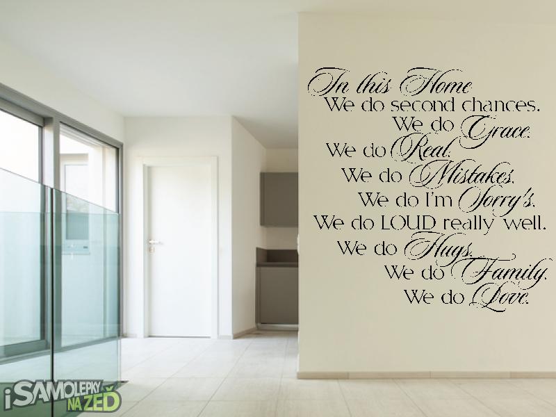 Samolepky na zeď - Samolepka na zeď - V tomto domě En v.3