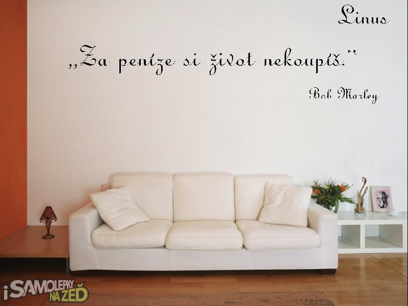 Samolepky na zeď - Samolepka na zeď - Vlastní text písmo Linus