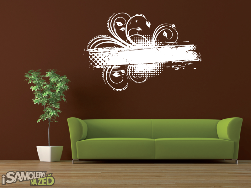 Samolepky na zeď - Samolepka na zeď - Abstraktní květina
