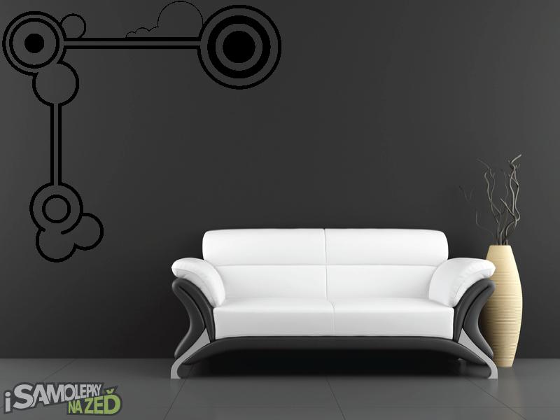 Samolepky na zeď - Samolepka na zeď - Abstraktní soustava kruhů