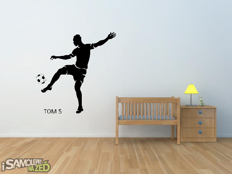 Dětské samolepky na zeď - Fotbalista s vlastním jménem v4