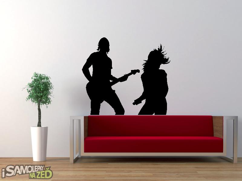 Samolepky na zeď - Samolepka na zeď - Hudební duo
