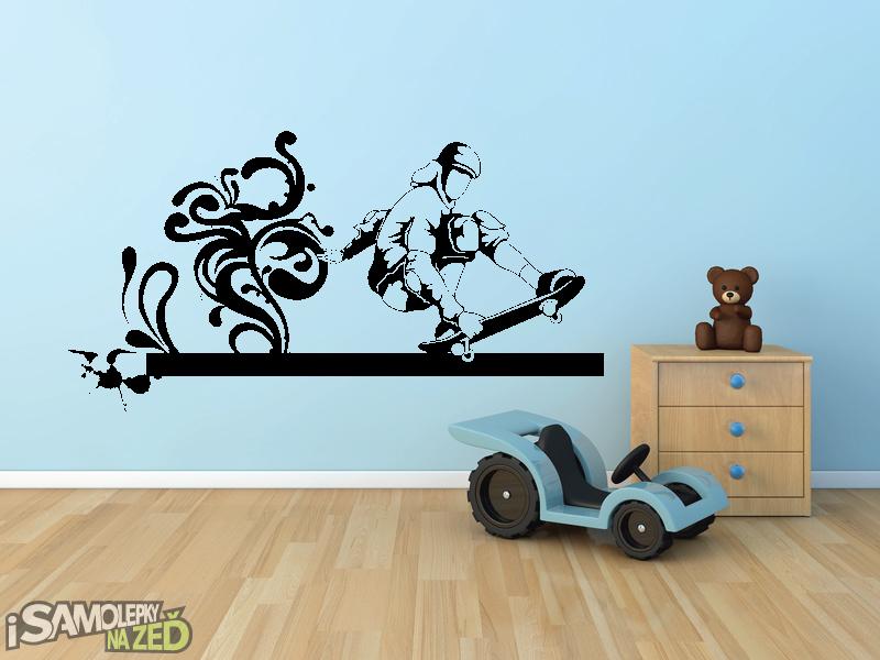 Samolepky na zeď - Samolepka na zeď - Skater V2