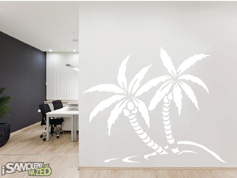 Samolepky na zeď - Samolepka na zeď - Dvě palmy