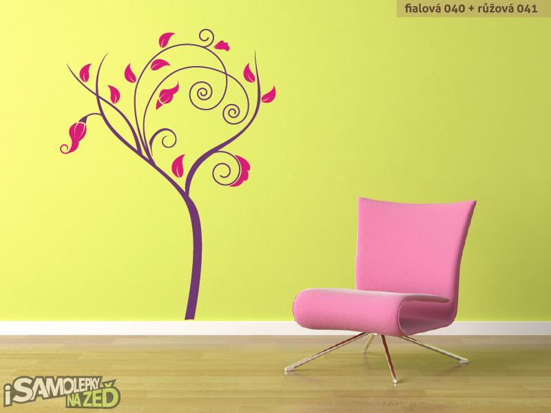 Samolepky na zeď - Moderní strom dvoubarevný