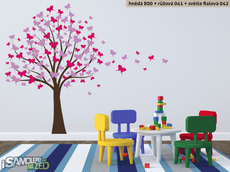 Samolepky na zeď - Motýlí strom