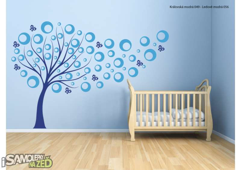 Samolepky na zeď - Strom s bublinkami V2