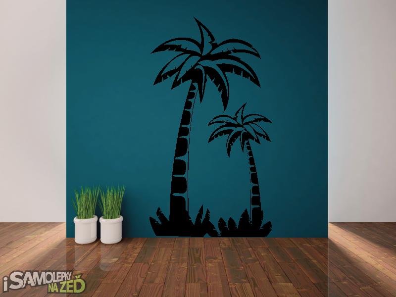 Samolepky na zeď - Palmový háj