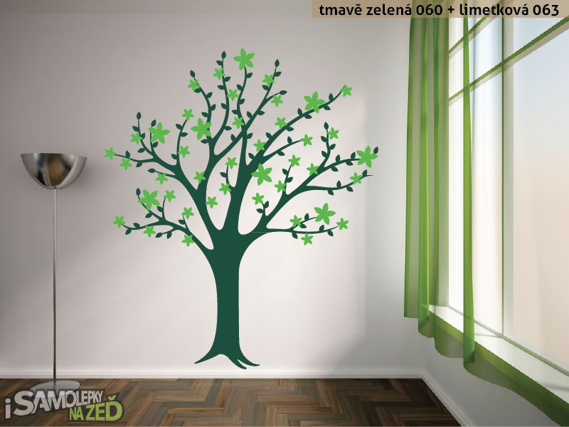 Samolepky na zeď - Samolepka na zeď - Rozkvetlý strom
