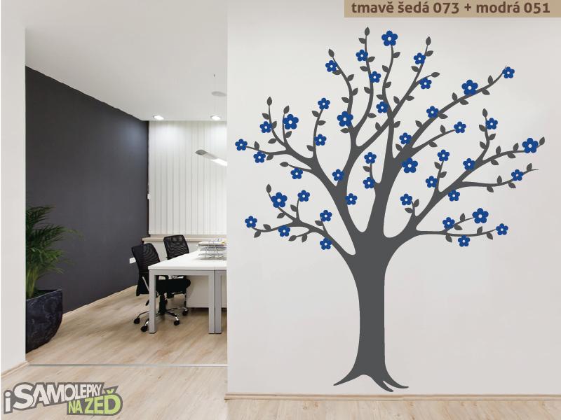 Samolepky na zeď - Samolepka na zeď - Rozkvetlý strom v2