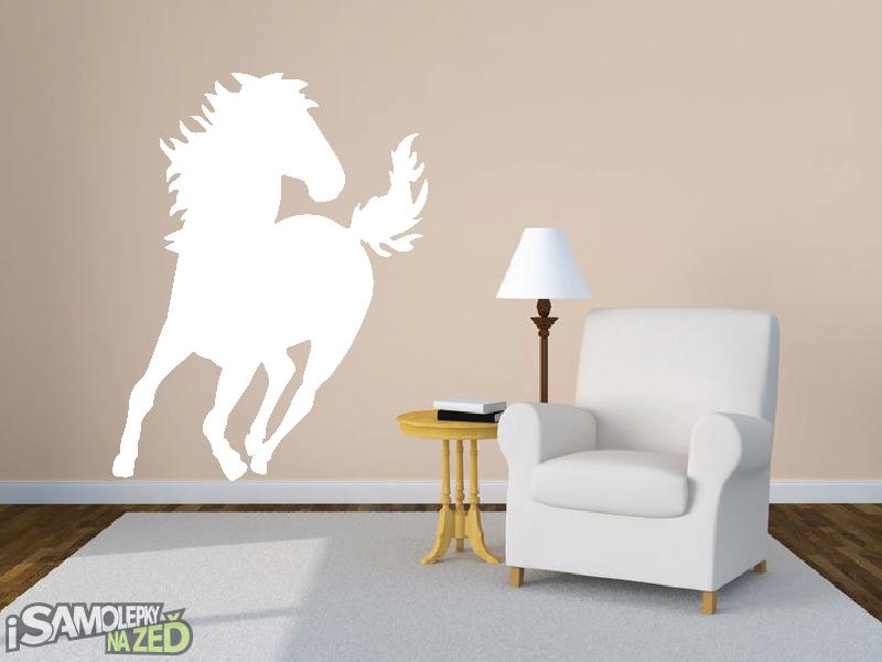 Samolepky na zeď - Běžící hřebec