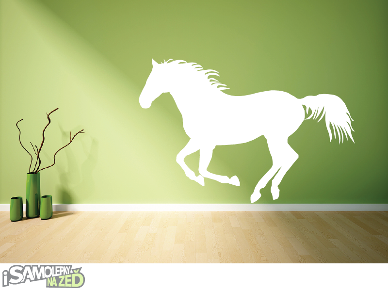 Samolepky na zeď - Samolepka na zeď - Běžící kůň