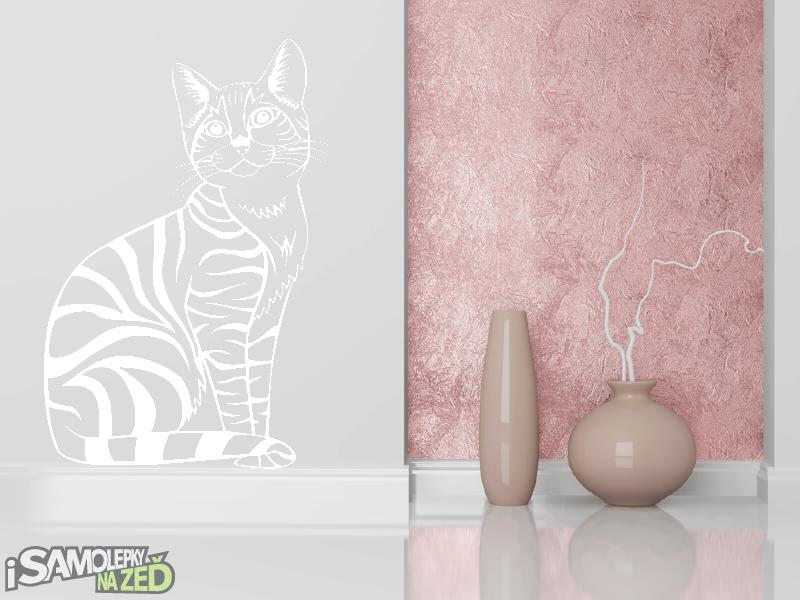 Samolepky na zeď - Kočka
