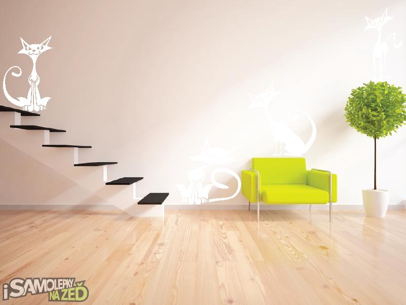 Samolepky na zeď - Samolepka na zeď - Moderní kočky