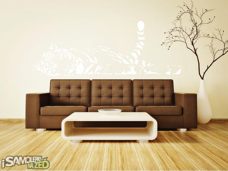 Samolepky na zeď - Samolepka na zeď - Spící tygr