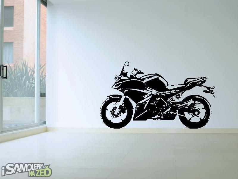 Samolepky na zeď - Samolepka na zeď - Silniční motorka