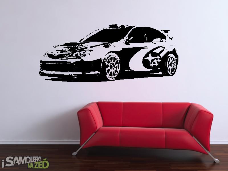 Samolepky na zeď - Samolepka na zeď - Subaru Impreza v2